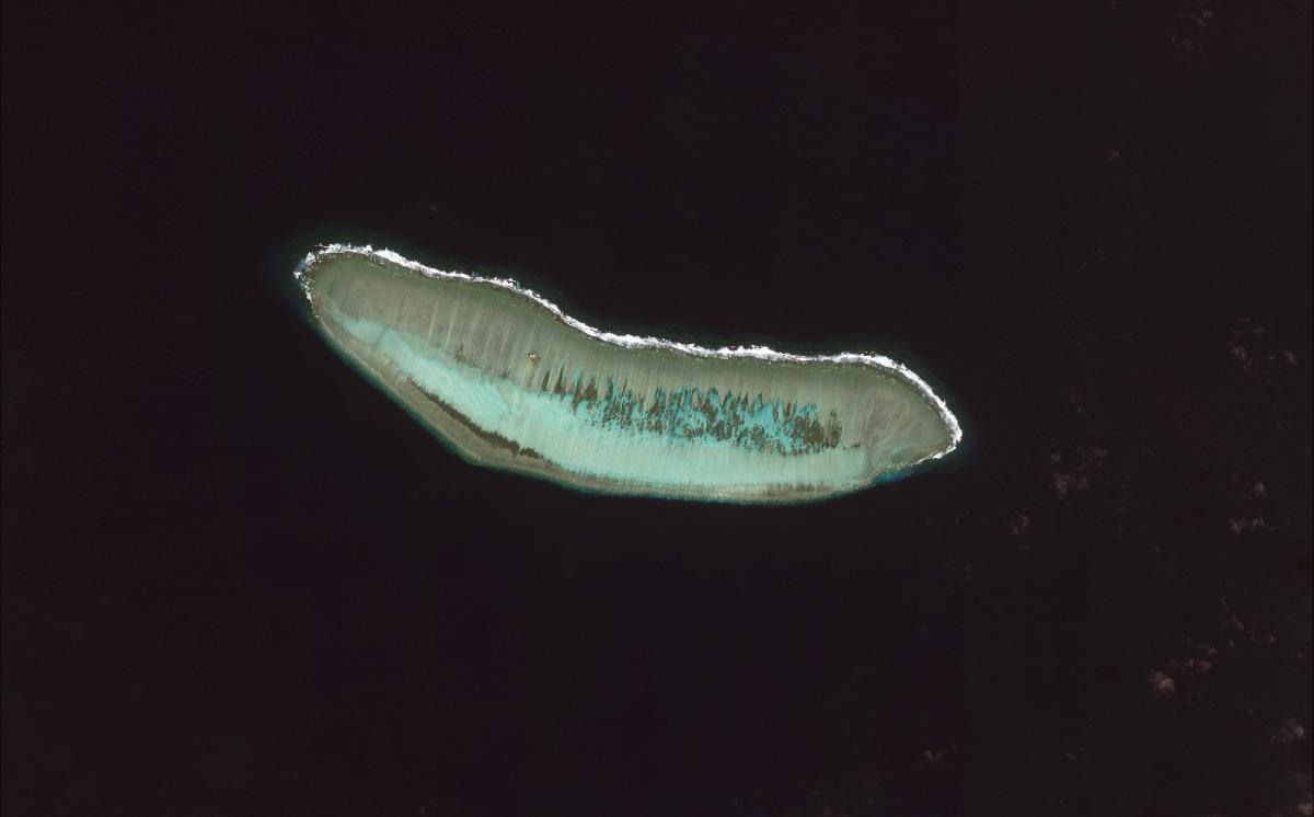 Le récif de Cuarteron en mer de Chine du Sud