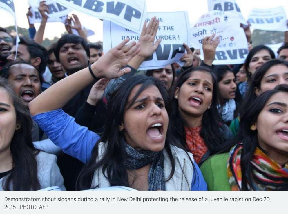 Manifestation en Inde