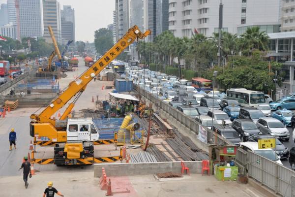 En chantier, la construction de la première ligne à grande vitesse Jakarta-Bandung