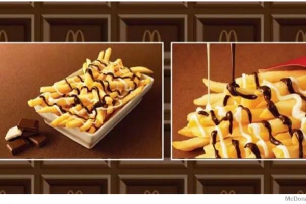 McChoco Potato, délicieuses frites nappées de chocolat