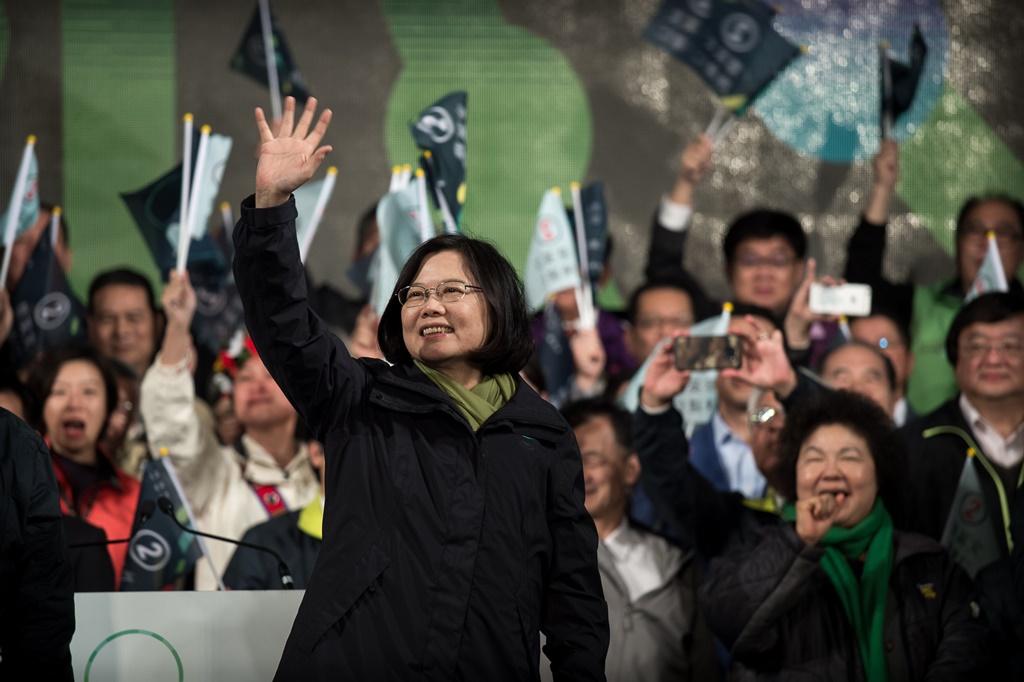 Tsai Ing-wen, la candidate et chef du parti démocrate progressiste (PDP)