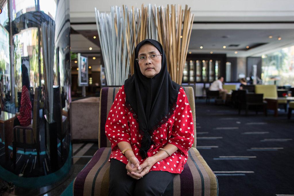 Angkhana Neelapaijit, nouvelle membre de la commission nationale thaïlandaise pour les droits de l'homme.