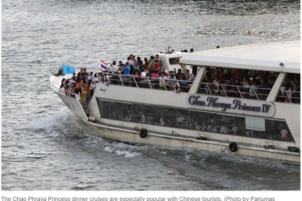 Chao Phraya Princess, navire de croisière prisé des touristes chinois