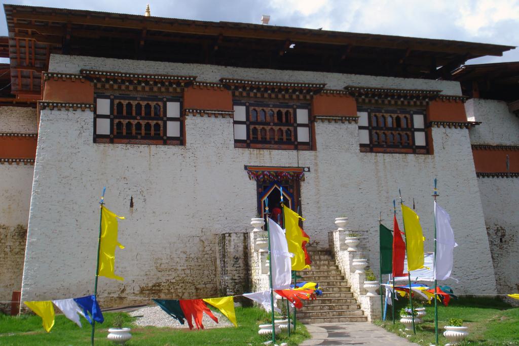 Une entrée de Dzong.