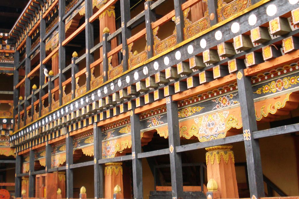 Détail du Dzong de Thimpu.