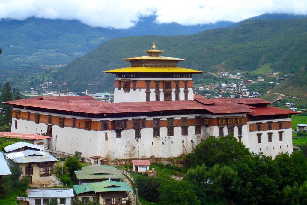 Le Dzong de la capitale du Bhoutan Thimpu.