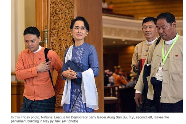 Aung San Suu Kyi, leader de la LND