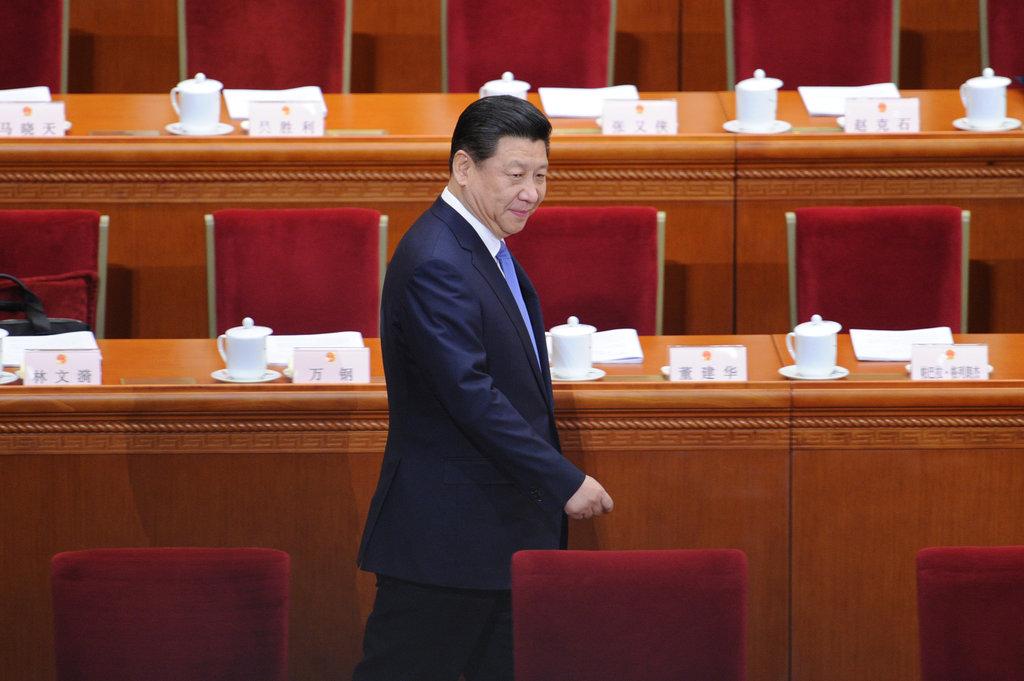 Le président chinois Xi Jinping se présente au Grand Hall du Peuple à Pékin le 5 mars 2014