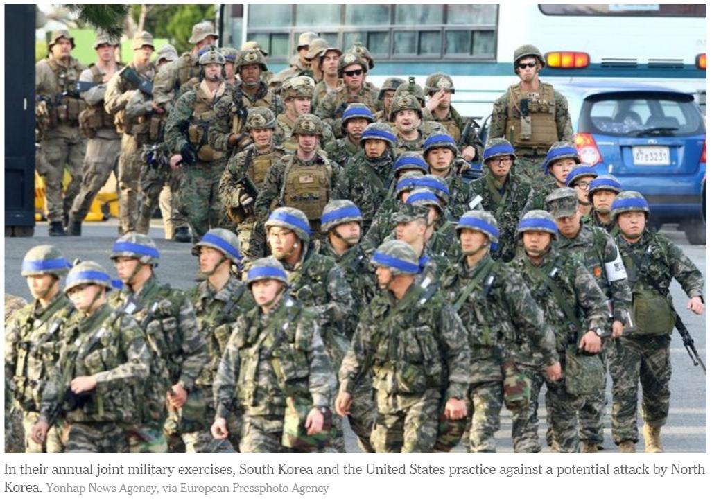 Exercices militaires Séoul - Washington