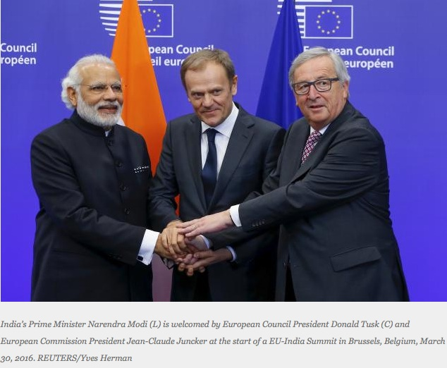 Le Premier ministre indien Narendra Modi au sommet UE-Inde.