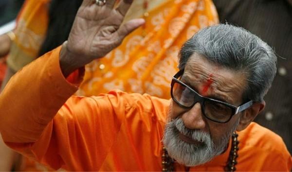 Bal Thakeray, fondateur et président du Shiv Sena, parti nationaliste hindou