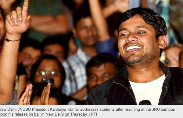 Kanhaiya Kumar, président de l'Union des étudiants de l'Université Jawarhal Nerhu