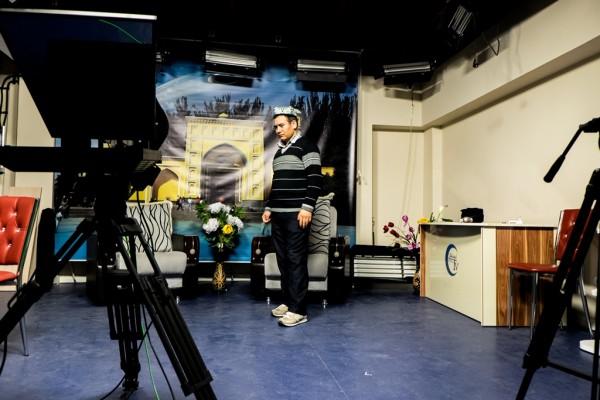 Dans les studios de Uygur TV à Istanbul