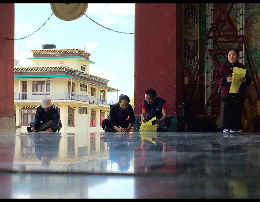 Jour d'élections à Dharamsala pour le renouvellement du gouvernement tibétain en exil, le 20 mars 2016.