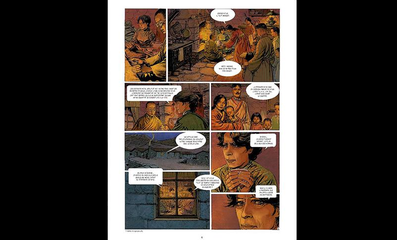 Extrait de la bande dessinée Alexandra David-Néel, les chemins de Lhassa. (Crédit : DR)