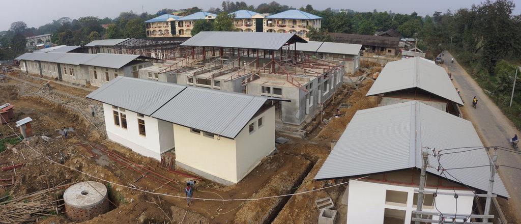 Construction CICR, centre de réadaptation physique, Myitkyina, Région du Kachin, Myanmar, 2015.