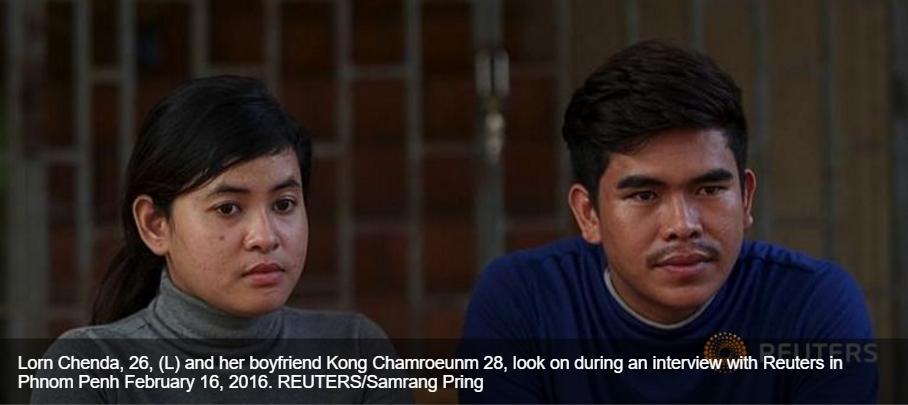 En s'adressant directement au Premier ministre cambodgien via les réseaux sociaux, Lorn Chenda a obtenu la libération de son petit ami. Copie d'écran de Channel News Asia, le 4 mars 2016.