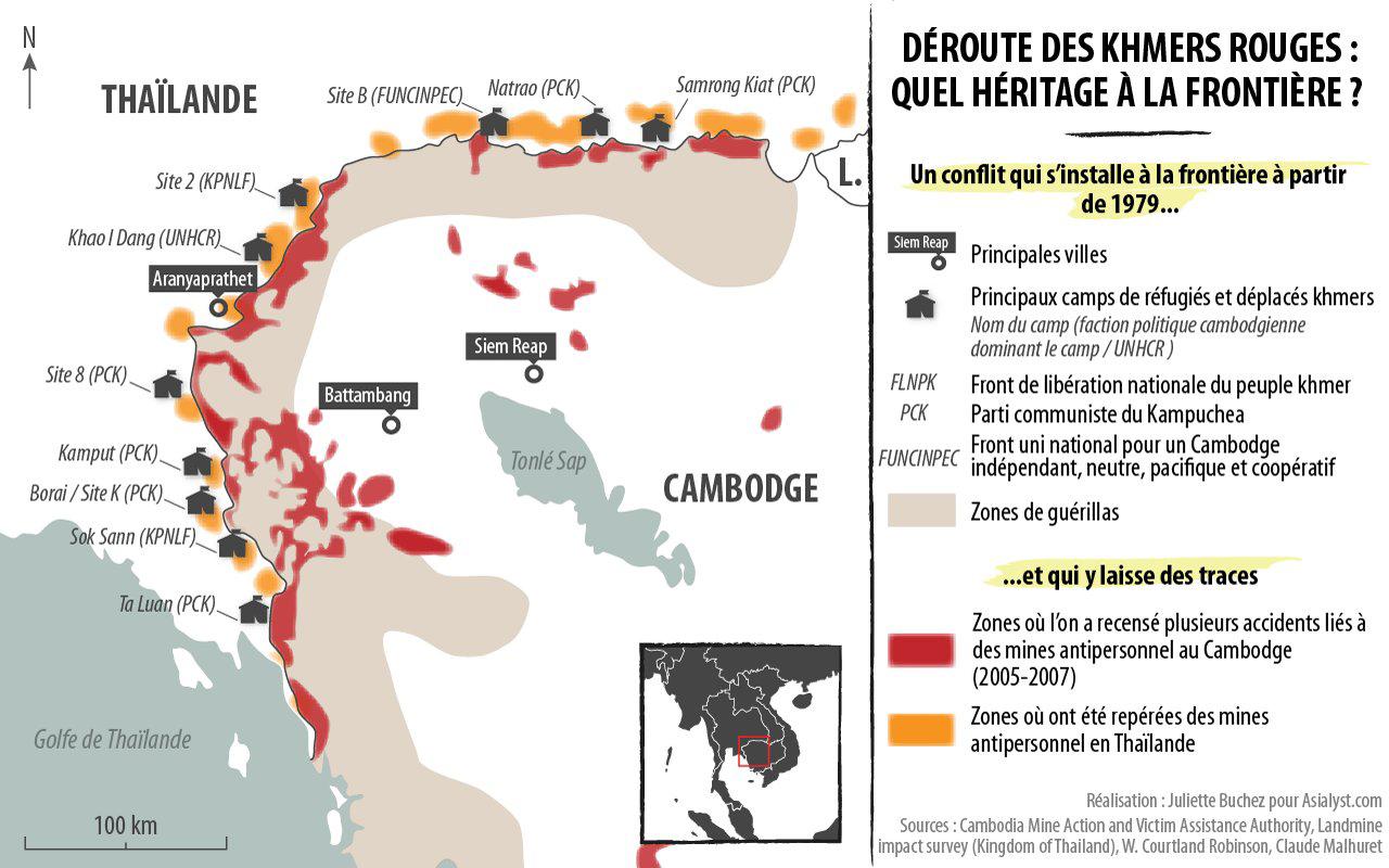 Carte Thailande Frontiere.Thailande Cambodge Une Histoire De Frontiere Asialyst