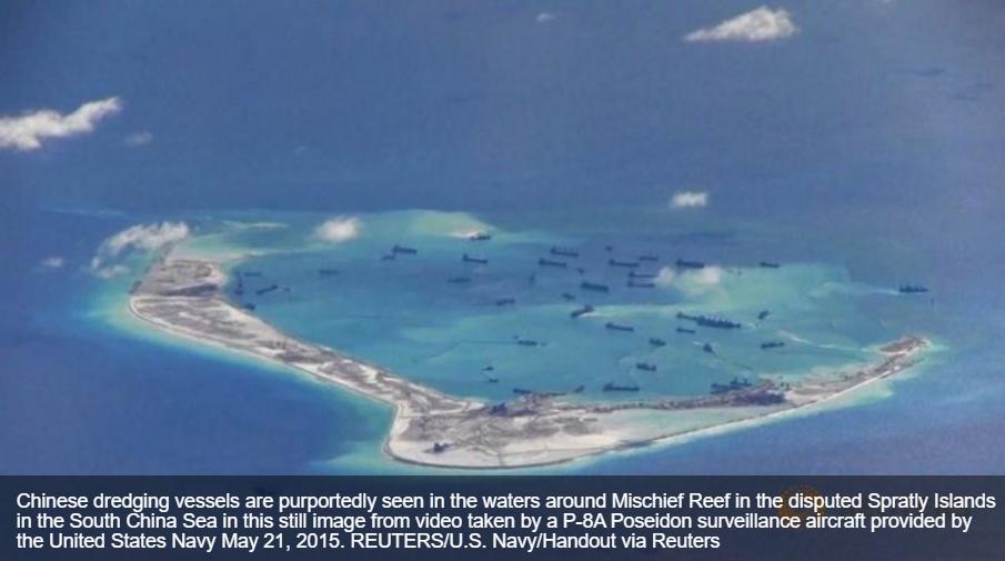 """Des centrales nucléaires flottantes en mer de Chine du Sud d'ici 2019 ? Copie d'écran de """"Channel News Asia"""", le 22 avril 2016."""