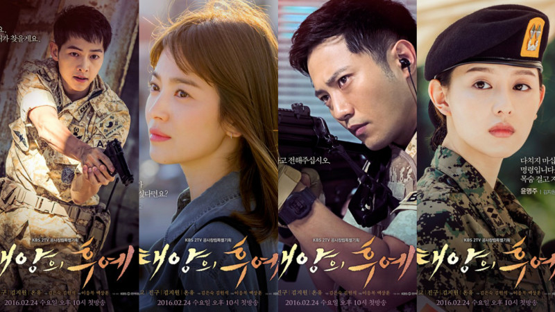 "Les acteurs de ""Descendants of the Sun""."