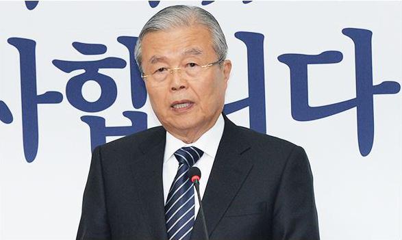 """Kim Jong-in, le leader par interim du parti Minjoo est le grand gagnant des élections législatives coréennes. Copie d'écran de """"Korea Times"""", le 14 avril 2016."""
