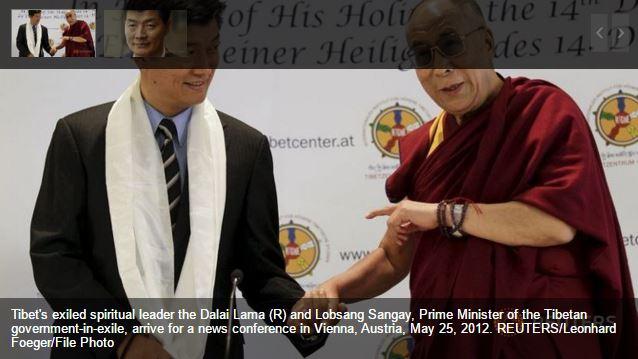 """Le diplomé de Harvard a été élu a 57% pour défendre l'autonomie du Tibet. Copie d'écran de """"Channel News Asia"""", le 27 avril 2016."""