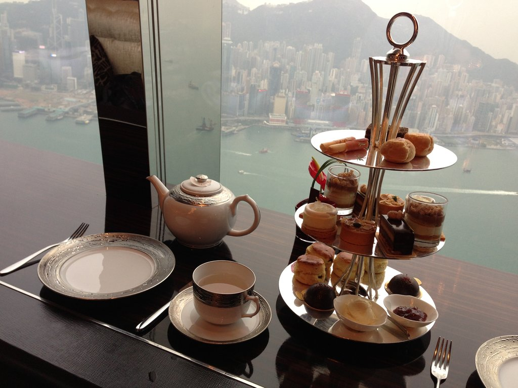 "L'""afternoon tea"" au RitzCarlton de Hong Kong."