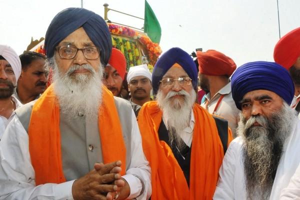 Parkash Singh Badal, ministre en chef de l'Etat du Pendjab, au nord-ouest de l'Inde, à Chandigarh, le 18 juin 2015
