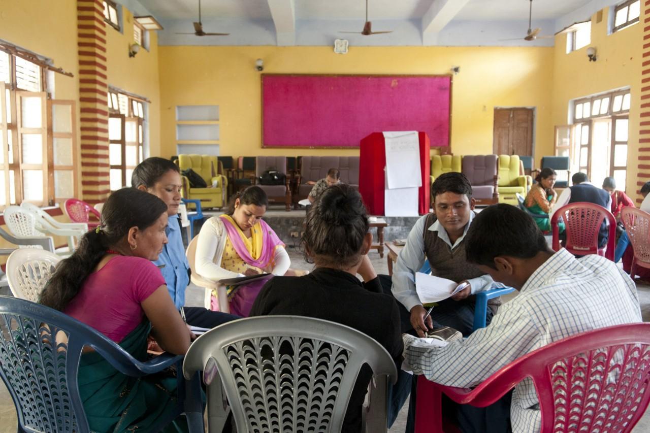Atelier Radiant Women à Dhangadhi, département de Saptari au Népal.
