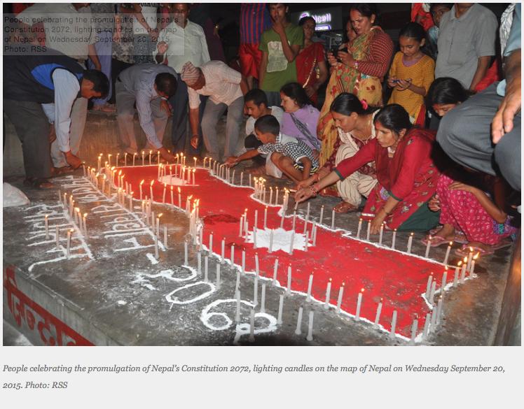 Le Népal demande le respect de sa souveraineté. Copie d'écran du Himalayan Times, le 1er avril 2016.