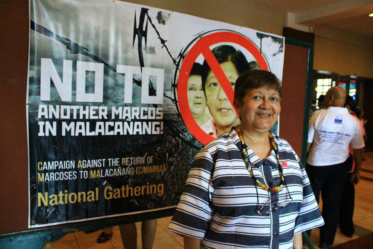 Joanna Cariño, ancienne militante étudiante philippine et victime de la torture sous le régime de Ferdinand Marcos.