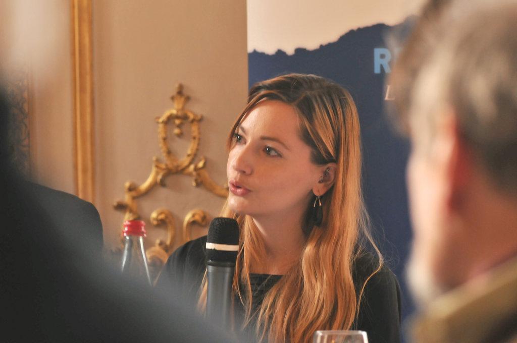 Eugénie Mérieau, chercheur spécialiste de la Thaïlande, maître de conférence à Sciences Po, ici au Forum de la mémoire organisé par RBF-France le mardi 5 avril 2016.