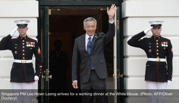 Singapour : l'Asie a toujours besoin des Etats-Unis, selon Lee Hsien Loong. Copie d'écran de Channel News Asia, le 1er avril 2016.