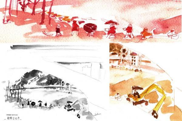 Montage d'Urban Sketcher pour Asialyst.