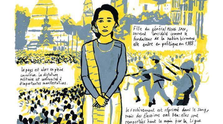 """Extrait de """"Birmanie, fragments d'une réalité"""", scénario de Frédéric Debomy, dessin de Benoît Guillaume."""