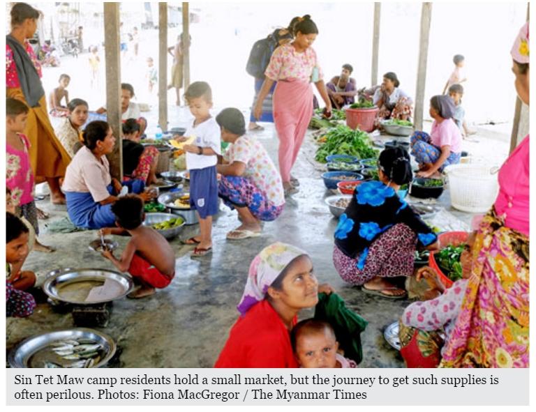 """Le naufrage d'une embarcation le mois dernier au large de l'Arakan met la lumière sur les musulmans Kaman, ethnie distincte des Rohingyas. Copie d'écran du """"Myanmar Times"""", le 2 mai 2016."""