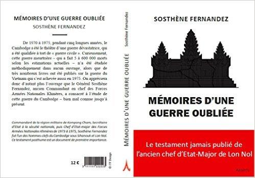 """Couverture de l'ouvrage """"Mémoires d'une guerre oubliée"""" publié aux Editions AsieInfo."""