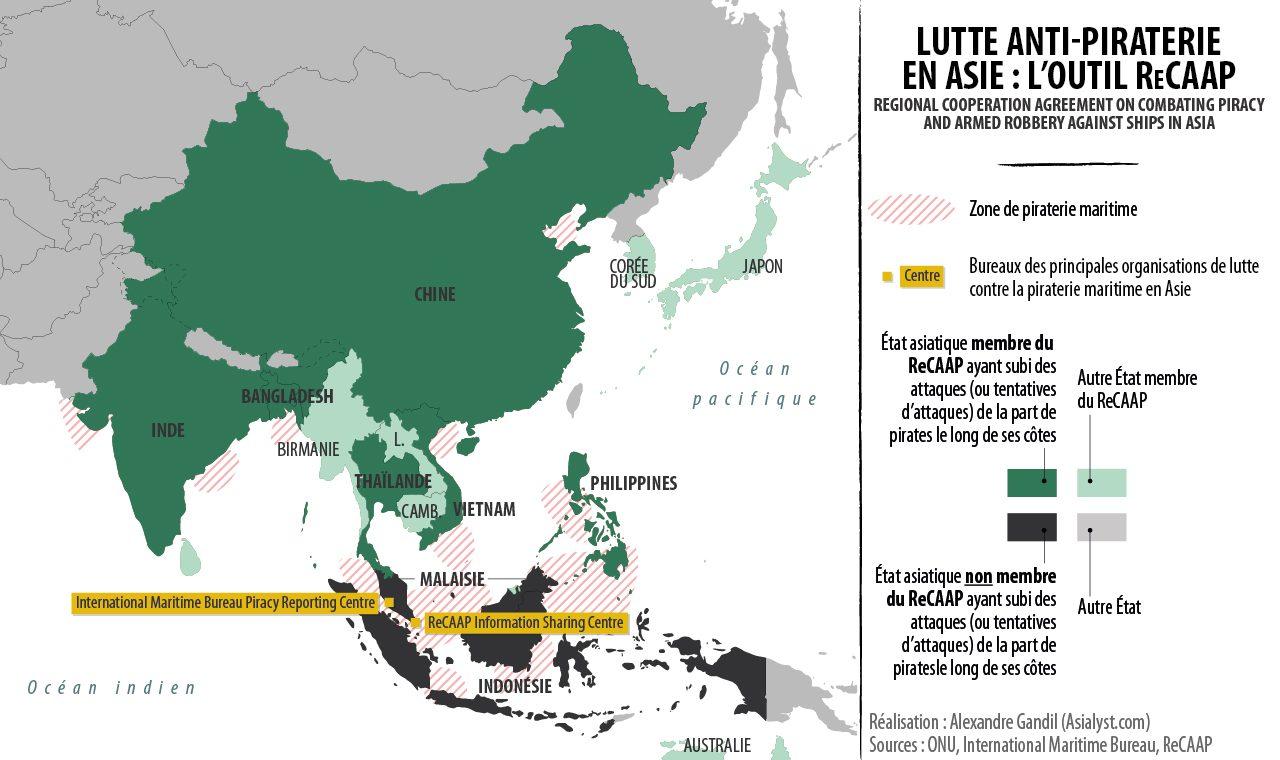 (Infographie) Lutte anti-piraterie en Asie : l'outil ReCAAP.