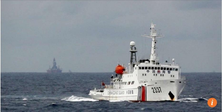 """Pékin souhaite créer une base navale sur l'une des îles Spratley afin d'abriter un navire de sauvetage. Copie d'écran du """"South China Morning Post"""", le 23 mai 2016."""