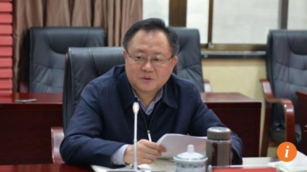 """Gong Wenmi, le nouveau secrétaire du Parti communiste chinois à Shaoyang, a mené des actions de lobbying à Pékin pour ses projets de construction. Copie d'écran du """"South China Morning Post"""", le 20 mai 2016."""