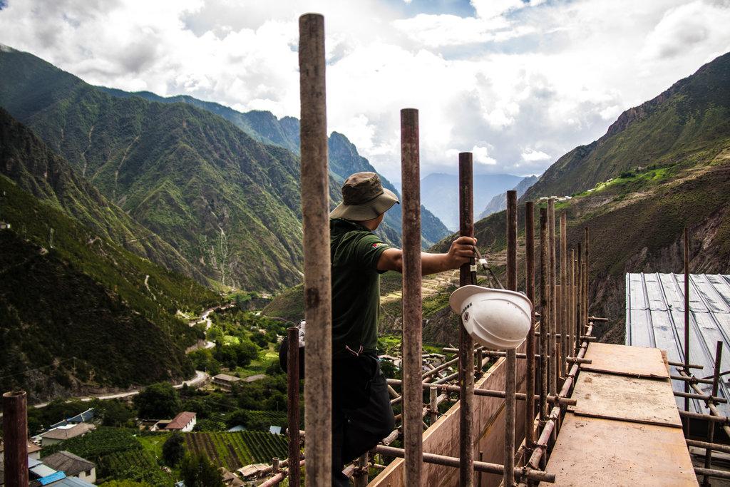 Dans la province du Yunnan en Chine, les projets de construction d'infrastructures sont légion.