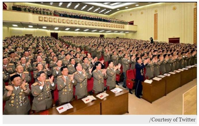 """Des mesures exceptionnelles de sécurité sont prises en Corée du Nord en vue du Congrès du Parti des travailleurs, organisé ce vendredi 6 mai. Copie d'écran du """"Korea Times"""", le 3 mai 2016."""