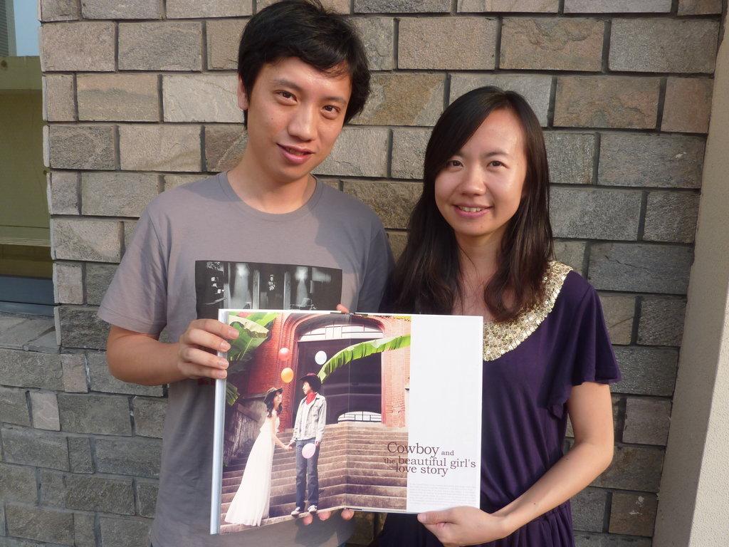"""Thème """"ranch et western"""" pour l'album photo de ce jeune couple à Hangzhou."""