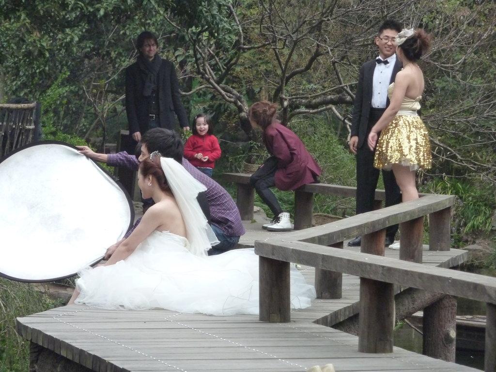 Séance de photo dans un parc de Hangzhou.