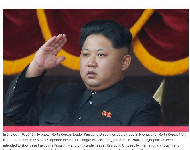 """Aujourd'hui s'est ouvert à Pyongyang le septième Congrès du Parti des travailleurs, il consacrera le pouvoir de Kim Jong-il. Copie d'écran du """"Korea Herald"""", le 6 mai 2016."""