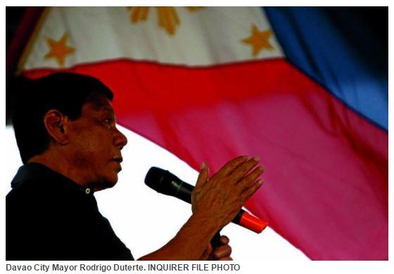 """Le """"Trump Philippin"""" a commencé sa campagne en traitant le pape de """"fils de pute"""" . Copie d'écran du """"Channel News Asia"""", le 6 mai 2016."""
