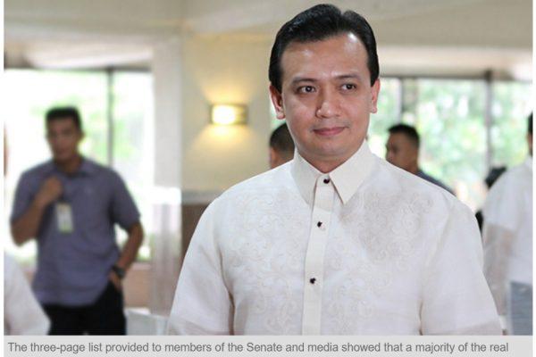 """Rodrigo Duterte, le """"candidat des pauvres et du peuple"""", disposerait d'une importante fortune. Copie d'écran du """"Philippines Star"""", le 3 mai 2016."""