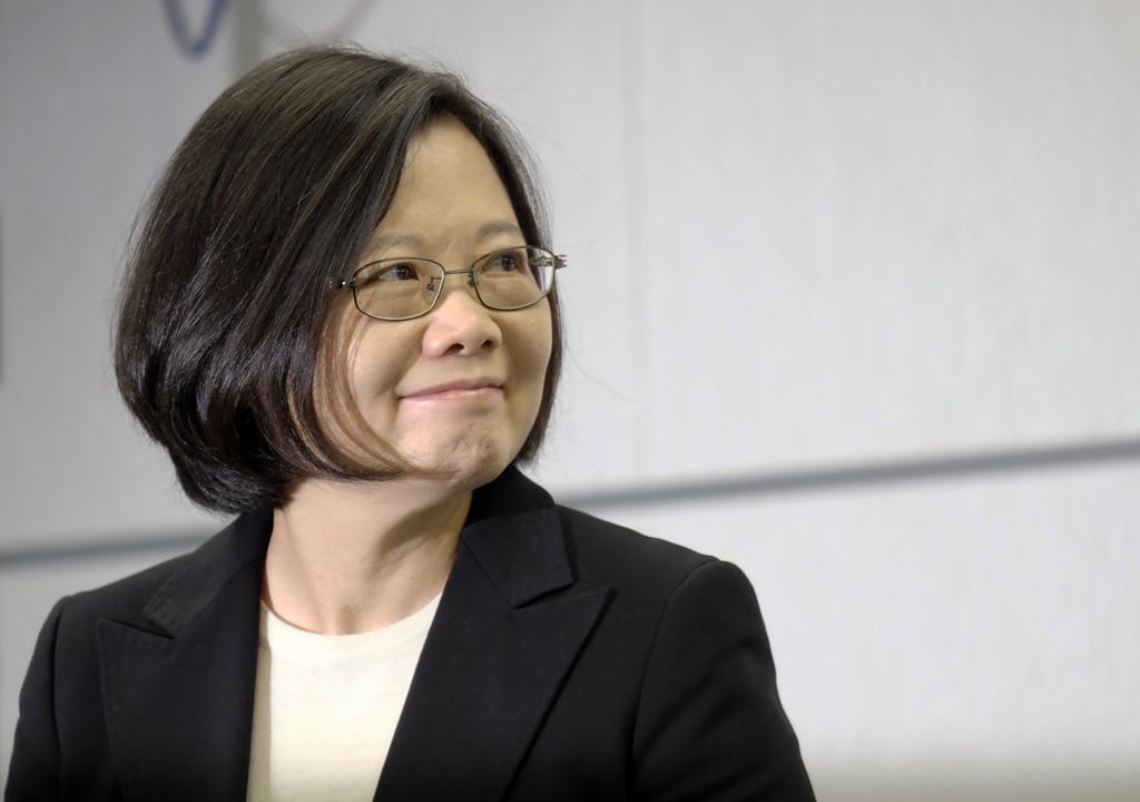 Tsai Ing-wen, la présidente taïwanaise élue, lors d'une conférence de presse à Taipei le 15 mars 2016.