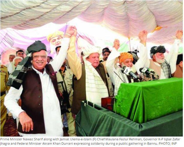 """Le Premier ministre pakistanais est l'objet d'une enquête judiciaire, suite à un mouvement anti-corruption lancé par Imran Khan. Copie d'écran de """"The Express Tribune"""", le 4 mai 2016."""