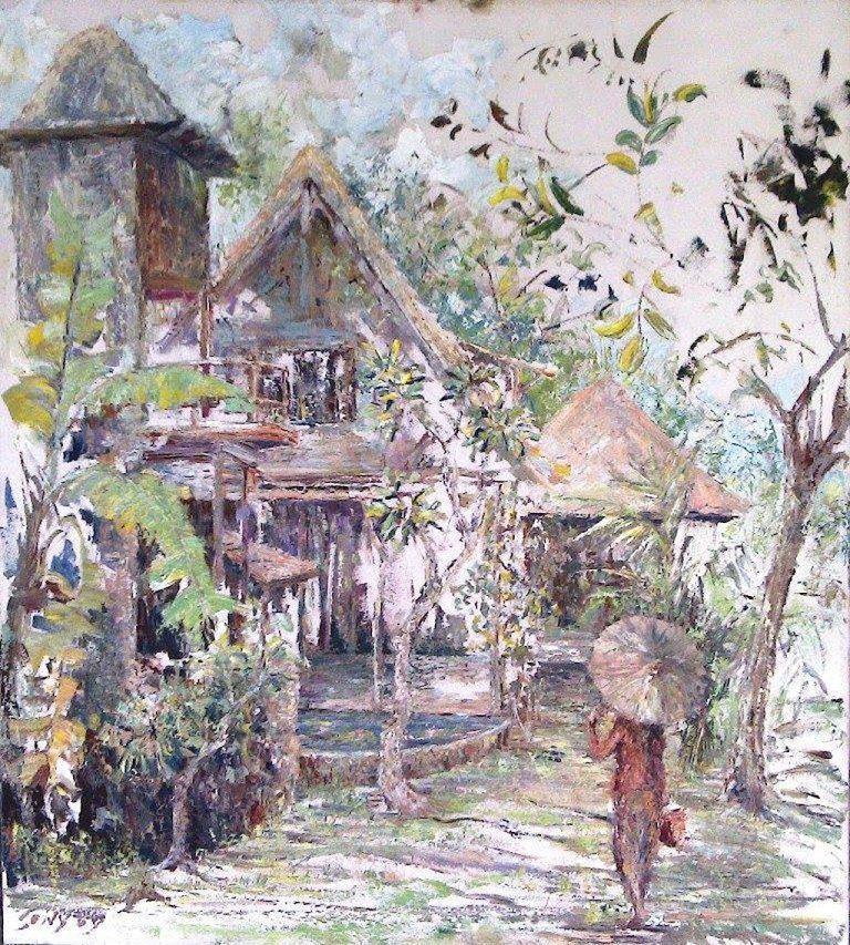 Oeuvre du peintre indonésien Sony Santosa.